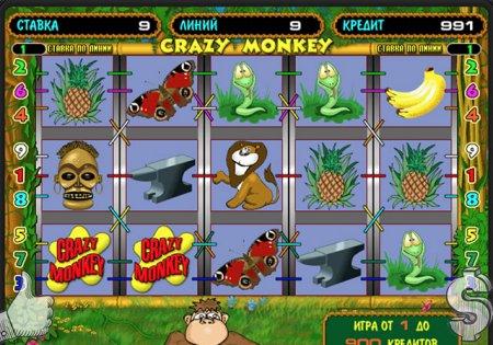 Играем в автомат Крейзи Манки в казино Париматч
